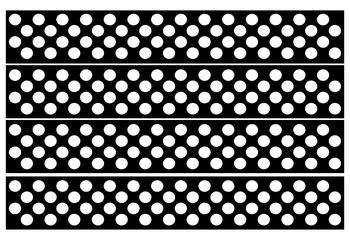image relating to Free Printable Bulletin Board Borders Template titled Black and White Polka Dot Bulletin Board Borders