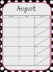 Black and White Polka Dot Calendar