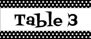 Black and White Polka Dot Classroom Bundle