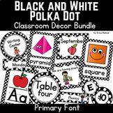 Black and White Polka Dot Classroom Decor
