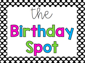 Black and White Polka Dot Classroom Decor Set with BRIGHTS {Fully Editable}