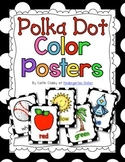 Color Posters Black and White Polka Dot