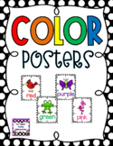 Black and White Polka Dot Color Word Posters