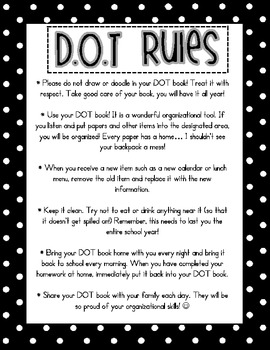 Black and White Polka Dot D.O.T Book