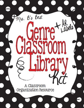 Black and White Polka Dot Genre and AR Classroom Library Kit-Now Editable