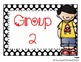 Black and White Polka Dot Guided Reading Clip Chart- With Red Font