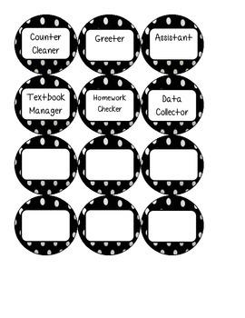 Black and White Polka Dot Jobs