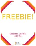 Editable Polka Dot Labels - FREEBIE