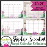 Shiplap Succulent Large Bulletin Board Wall Calendar Bulle