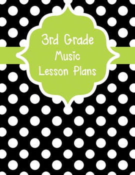 Black and White Polka Dot Music Lesson Plan Binder Covers