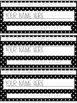 Black and White Polka Dot Name Plates