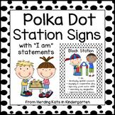 Black and White Polka Dot Station Signs