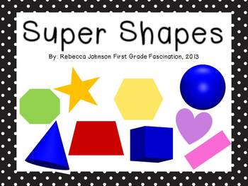 Black and White Polka Dot Super Shapes posters