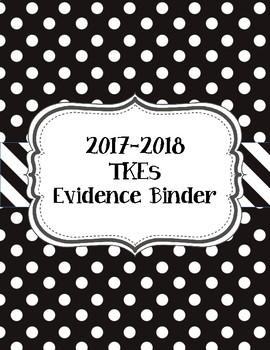 Black and White Polka Dot TKEs Evidence Binder 2017-2018