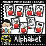 Black and White Polka Dot Theme Alphabet Posters