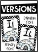 Black and White Polka Dots Alphabet Posters - Polka Dot Decor