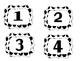 Black and White Polka Dots Classroom Numbers 1-28