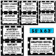Black and White Polka Dots - Genre Posters and Labels