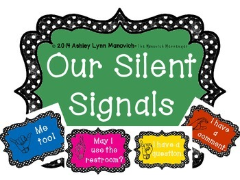 Black and White Polka Dots Silent Signals for Classroom Management