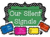 Black and White Polka Dots Silent Signals for Classroom Ma