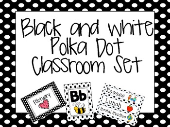 Black and White Polka dot set {Everything included!}