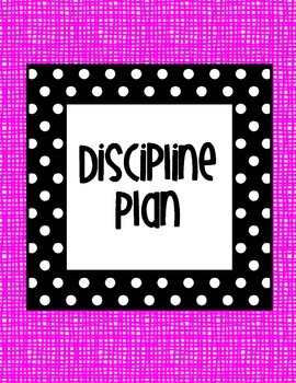 Black and White Polka dot with Pink background Classroom Management Binder
