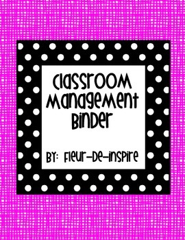 Black and White Polka dot with Pink background Classroom M