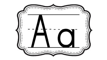 Black and White Primary Word Wall Alphabet