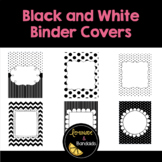 Black and White Printable Binder Covers