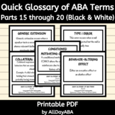 Quick Glossary of ABA Terms - Parts 15 through 20 - ABA Fl