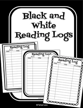 Black and White Reading Logs