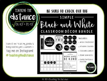 Black and White Schedule Cards FREEBIE