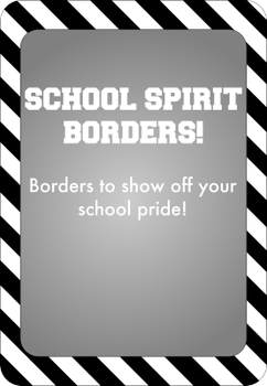 Black and White - School Spirit Borders 9 Pack