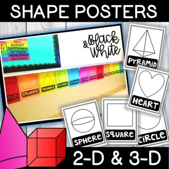 Black and White Shape Posters