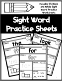 Black and White Sight Word Worksheets   Sight Word Practice