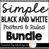 Black and White Simple Posters & Rules Bundle