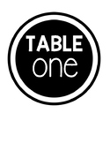 Black and White Simple Table Signs
