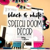 Black and White Speech Room Decor
