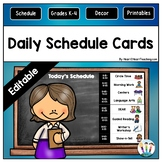 Black and White Split-Color Theme Daily Schedule Cards {EDITABLE}