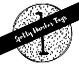 Black and White Spotty Number Tags