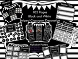 Black and White Stripe Classroom Decor