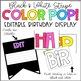 Black and White Stripe Color POP! Editable Birthday Bulletin Board Display Kit