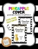 Black and White Stripe Pineapple Binder Cover *Editable