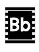 Black and White Striped Alphabet