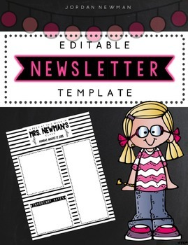 Black and White Striped Editable Newsletter Template