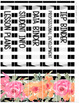 Black and White Striped & Floral Binder Covers