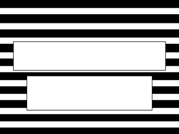 Black and White Striped PowerPoint Template