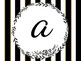 Black and White Striped Read Poster