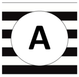 Black and White Striped Word Wall- Editable
