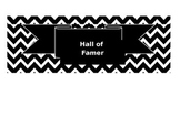 Black and White Super improver wall label